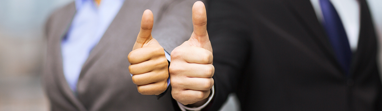 men giving thumbs up for their web development