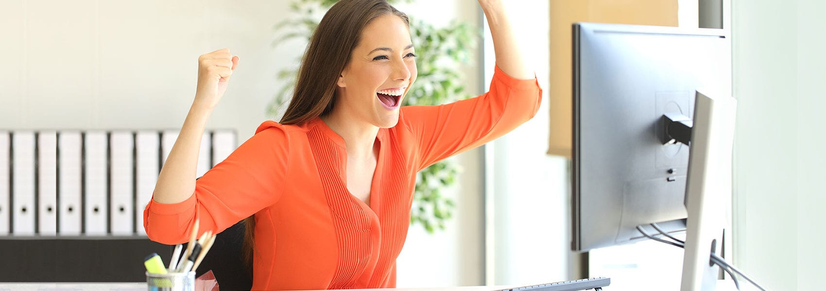 happy website client
