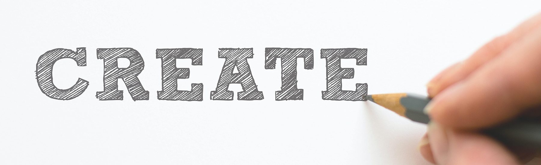 graphic image of the word create